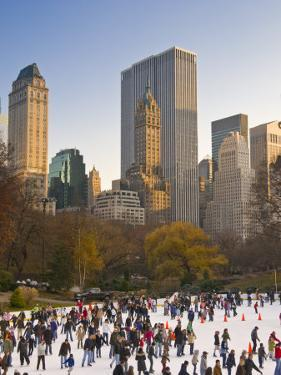 Central Park, Wollman Icerink, Manhattan, New York City, USA by Alan Copson