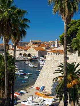 Croatia, Dalmatia, Dubrovnik, Old Town (Stari Grad), Old Harbour by Alan Copson