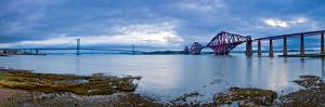 Forth Road and Rail Bridges, Firth of Forth, Edinburgh, Scotland, UK by Alan Copson