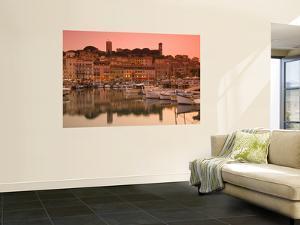 France, Provence-Alpes-Cote D'Azur, Cannes, Old Town Le Suquet, Vieux Port (Old Harbour) by Alan Copson
