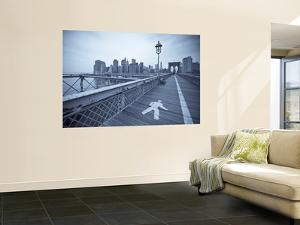 Manhattan and Brooklyn Bridge, New York City, USA by Alan Copson