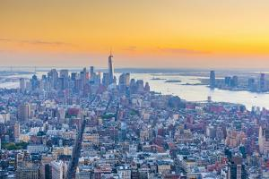 Manhattan, Lower Manhattan and Downtown, World Trade Center, Freedom Tower, New York by Alan Copson