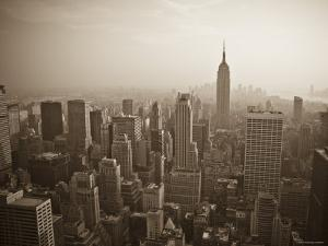 Manhattan Skyline Including Empire State Building, New York City, USA by Alan Copson