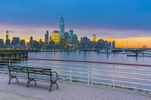 New York Skyline of Manhattan, Lower Manhattan and World Trade Center by Alan Copson