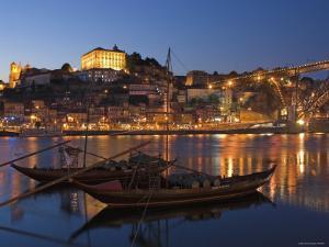 Ponte de Dom Luis I and Port Carrying Barcos, Porto, Portugal by Alan Copson