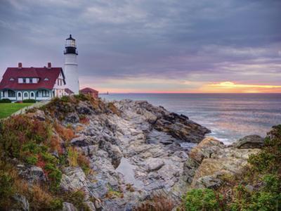Portland Head Lighthouse at Sunrise, Portland, Maine, New England, USA, North America by Alan Copson