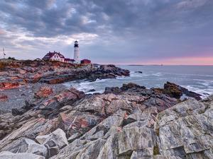 Portland Head Lighthouse, Portland, Maine, New England, United States of America, North America by Alan Copson