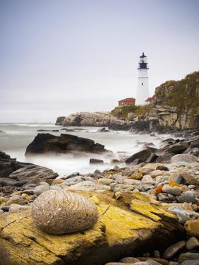 Portland Head Lighthouse, Portland, Maine,New England, United States of America, North America by Alan Copson