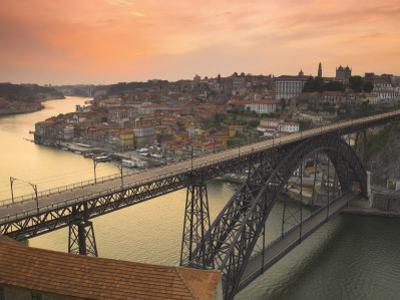 River Douro and Dom Luis I Bridge, Porto, Portugal by Alan Copson