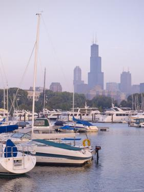 Skyline Including Sears Tower, Chicago, Illinois by Alan Copson
