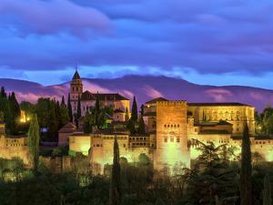 Spain, Andalucia, Granada Province, Granada, Alhambra from Sacromonte Hill by Alan Copson
