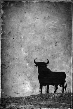 Spain, Andalucia, Jerez De la Frontera, El Cuadrejon, An Osborne Bull or Toro De Osborne by Alan Copson