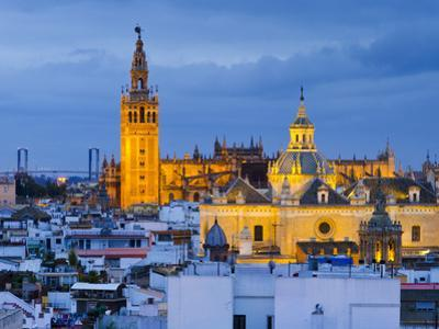 Spain, Andalucia, Seville Province, Seville,  Cathedral of Seville, the Giralda Tower by Alan Copson