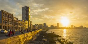 The Malecon, Havana, Cuba, West Indies, Caribbean, Central America by Alan Copson