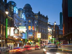 Theatreland in the Evening, Shaftesbury Avenue, London, England, United Kingdom, Europe by Alan Copson