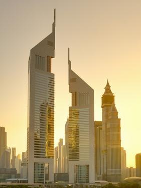 Uae, Dubai, Sheikh Zayed Road, Emirates Towers by Alan Copson