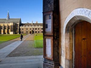 UK, England, Cambridge, Cambridge University, Trinity College, Porter's Lodge by Alan Copson