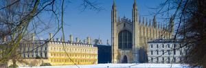 UK, England, Cambridge, King's College Chapel from the Backs by Alan Copson