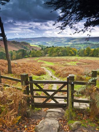 UK, England, Derbyshire, Peak District National Park, from Stanage Edge