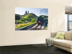 Uk, England, Dorset, Corfe Castle and Station on the Swanage Railway by Alan Copson