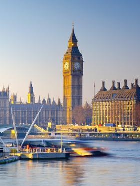 UK, England, London, River Thames and Big Ben by Alan Copson
