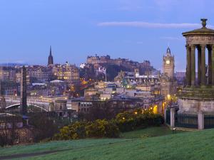 UK, Scotland, Edinburgh, Calton Hill, Stewart Monument by Alan Copson