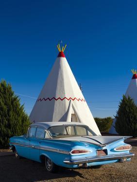 USA, Arizona, Holbrook, Route 66, Wigwam Motel, Chevrolet Impala by Alan Copson