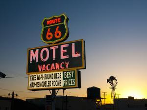 USA, California, Route 66, Barstow, Route 66 Motel by Alan Copson