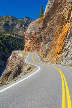USA, Colorado, Between Silverton and Ouray, the Million Dollar Highway Part by Alan Copson
