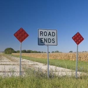 USA, Illinois, Old Route 66, Odell, Disused Sections of Route 66 by Alan Copson