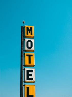 USA, Illinois, Route 66, Broadwell, Old Motel Sign by Alan Copson
