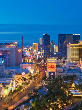 Usa, Nevada, Las Vegas, the Strip by Alan Copson