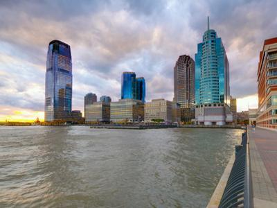 USA, New Jersey, Jersey City on the Hudson River by Alan Copson