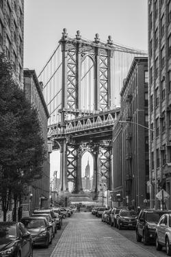 Usa, New York, Brooklyn, Dumbo, Manhattan Bridge by Alan Copson