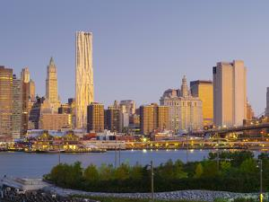 USA, New York, Lower Manhattan, Tallest Building Is Beekman Tower (By Frank Gehry), with Woolworth  by Alan Copson
