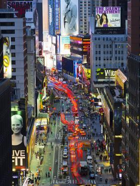 USA, New York, Manhattan, Midtown, Broadway Towards Times Square by Alan Copson