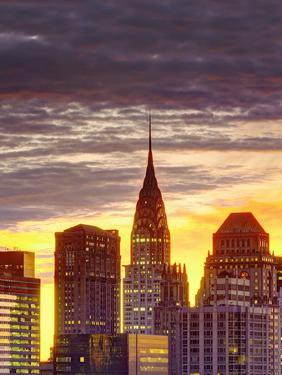 USA, New York, Manhattan, Midtown Skyline and Chrysler Building by Alan Copson