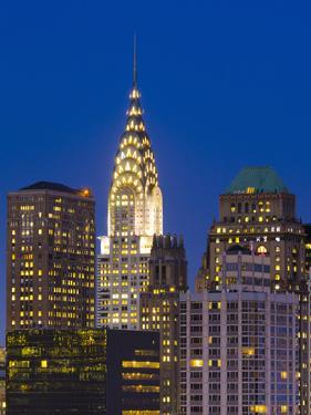 USA, New York, Manhattan, Midtown Skyline and Chrysler Building by Alan Copson