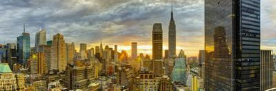 USA, New York, Manhattan, Midtown Skyline Including Empire State Building by Alan Copson