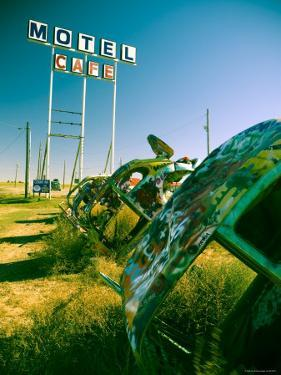 USA, Texas, Route 66, Conway Bug Ranch, Made of VW Beetles by Alan Copson