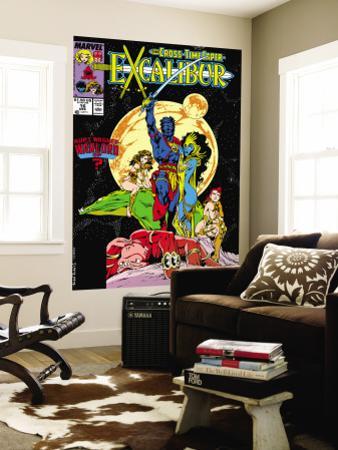 Excalibur No.16 Cover: Nightcrawler, Phoenix, Shadowcat and Kymri