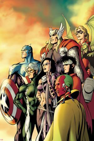 I Am an Avenger No.5 Cover: Ant-Man, Vision, Hawkeye, Wiccan, Speed, Captain America and Others