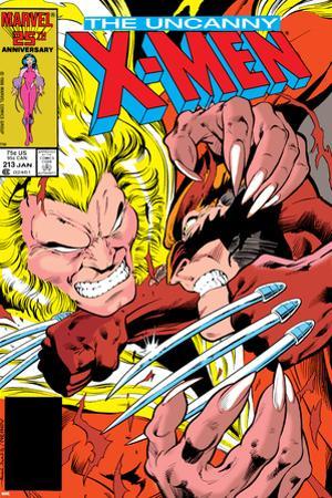 Uncanny X-Men No.213 Cover: Sabretooth and Wolverine