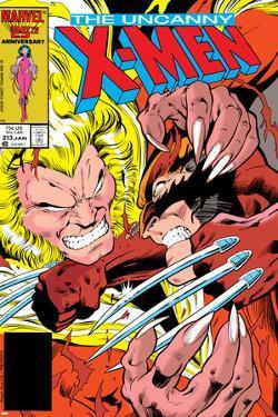 Uncanny X-Men No.213 Cover: Sabretooth and Wolverine by Alan Davis