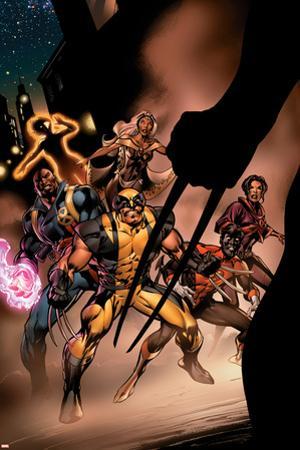 Uncanny X-Men No.450 Cover: Wolverine, Bishop, Nightcrawler, Storm and X-Men Fighting