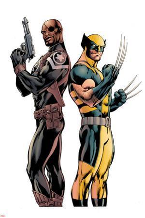 Wolverine #3 Cover: Nick Fury, Wolverine