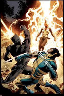 Wolverine #8 Cover: Wolverine, Storm, Black Panther by Alan Davis