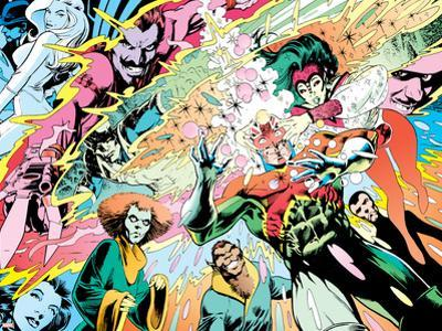 X-Men Archives No.3 Cover: Captain Britain, Fascination, Psylocke, Oxo and Zeitgeist