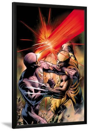 X-Men: Schism No.4 Cover: Cyclops Fighting Wolverine with an Optic Blast