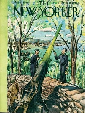 The New Yorker Cover - May 8, 1943 by Alan Dunn
